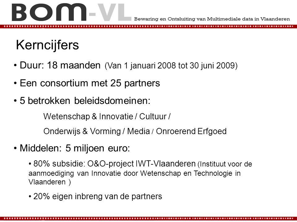 Kerncijfers Duur: 18 maanden (Van 1 januari 2008 tot 30 juni 2009)