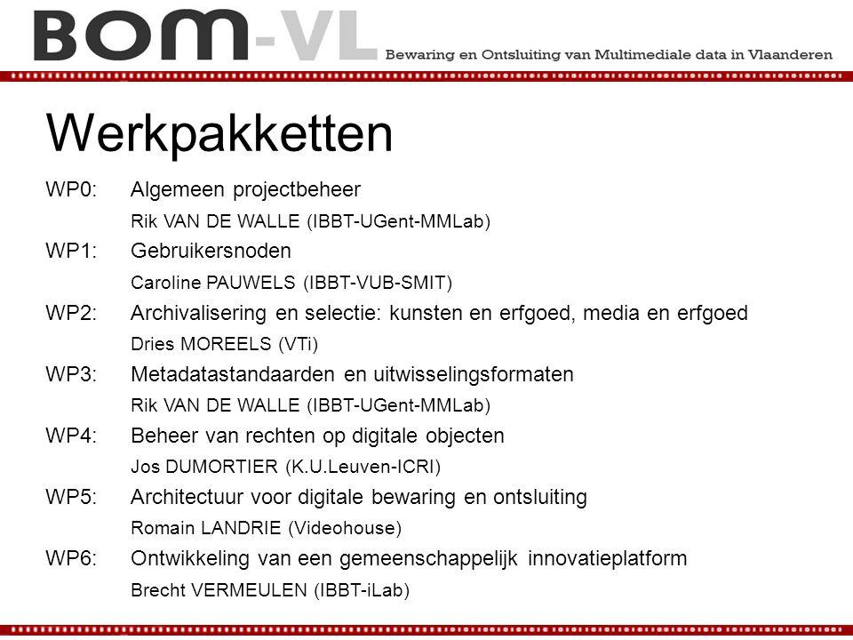 Werkpakketten WP0: Algemeen projectbeheer