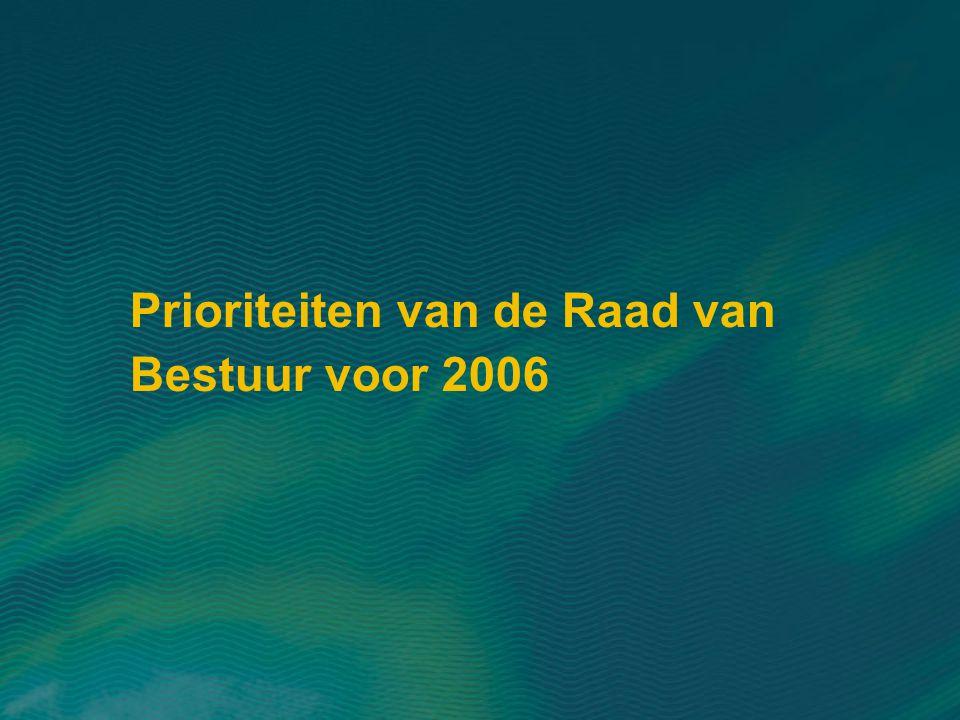 Prioriteiten van de Raad van Bestuur voor 2006