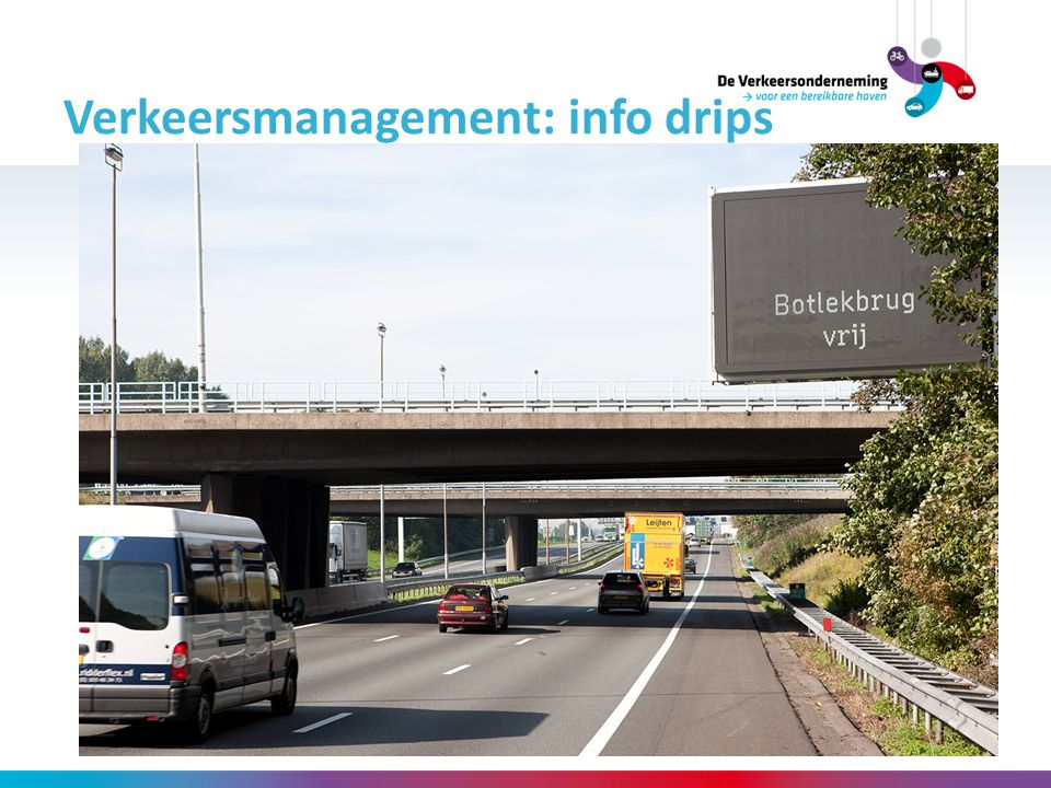 Verkeersmanagement: info drips