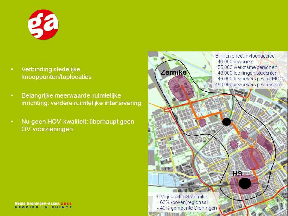 Verbinding stedelijke knooppunten/toplocaties