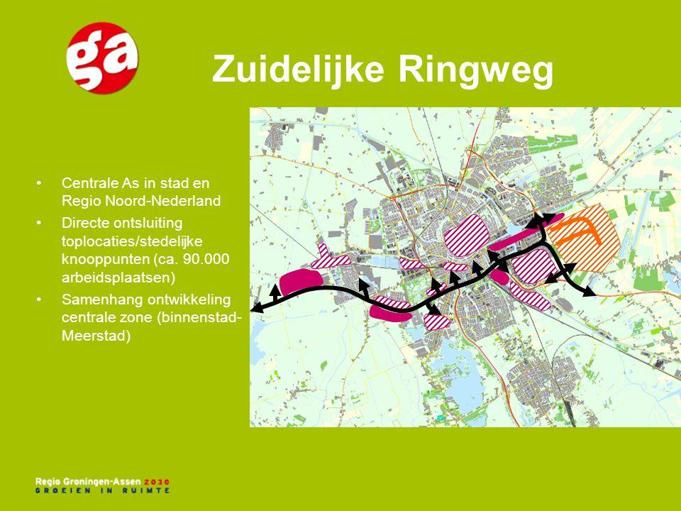 Zuidelijke Ringweg Centrale As in stad en Regio Noord-Nederland