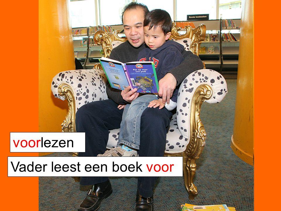voorlezen Vader leest een boek voor