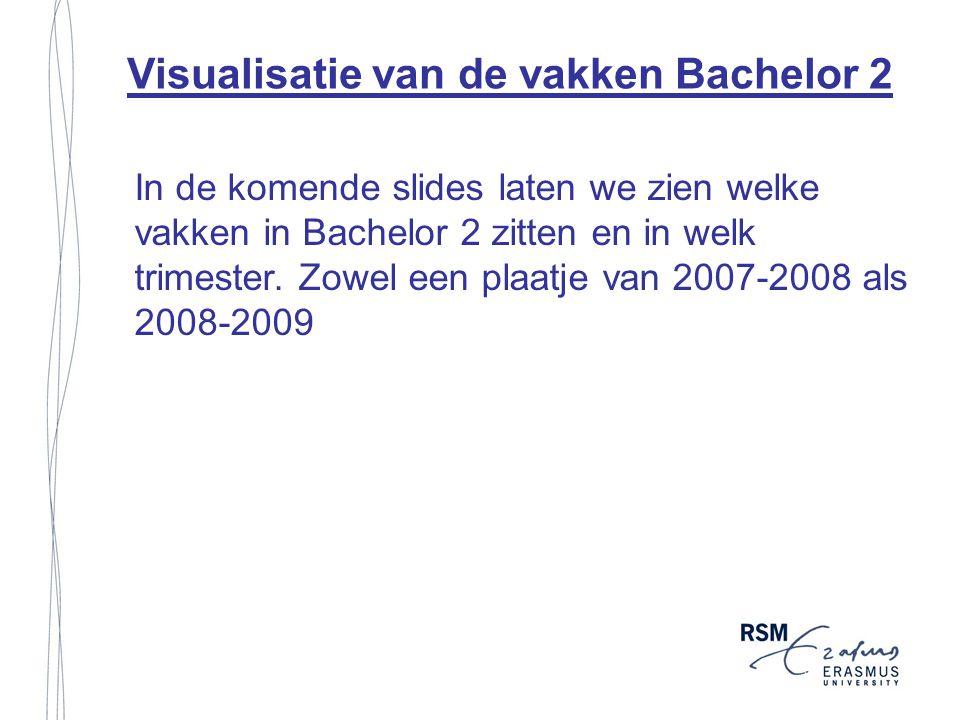 Visualisatie van de vakken Bachelor 2