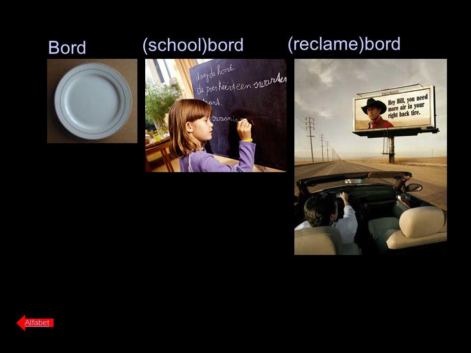 (reclame)bord Bord (school)bord Alfabet
