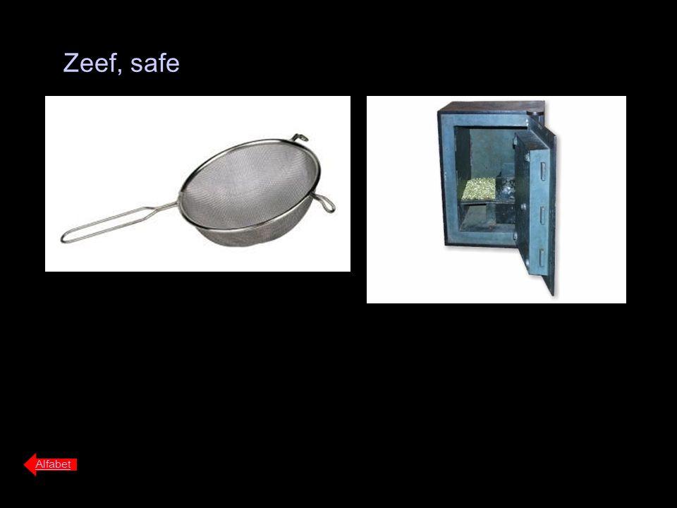 Zeef, safe Alfabet