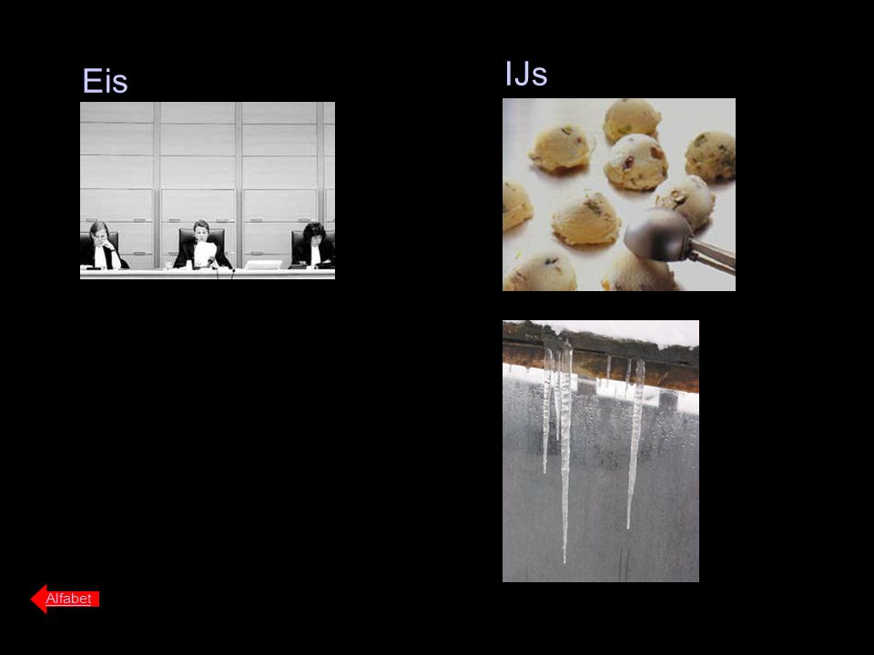 IJs Eis Alfabet
