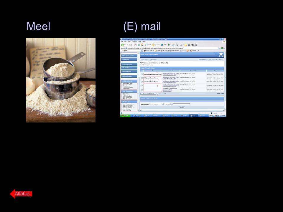 Meel (E) mail Alfabet