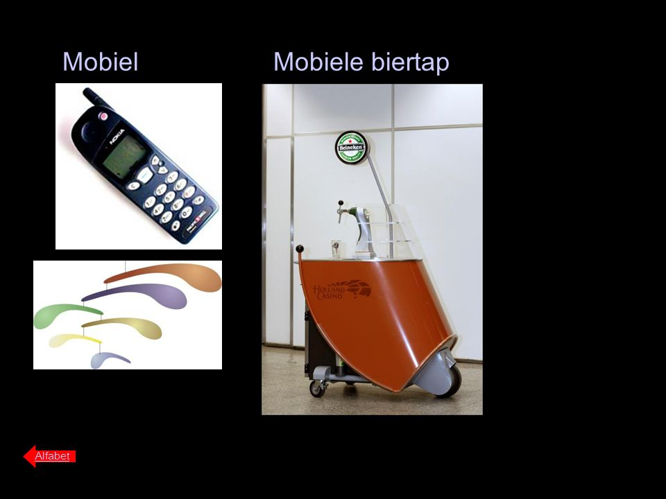 Mobiel Mobiele biertap Alfabet
