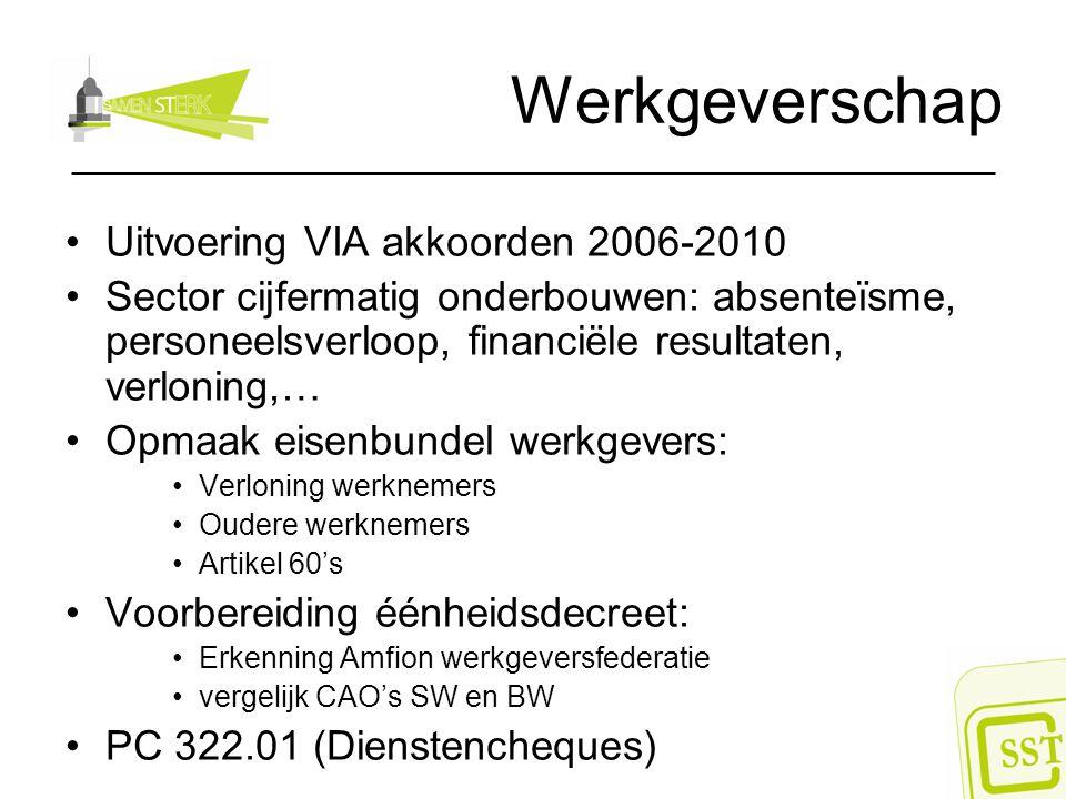 Werkgeverschap Uitvoering VIA akkoorden 2006-2010