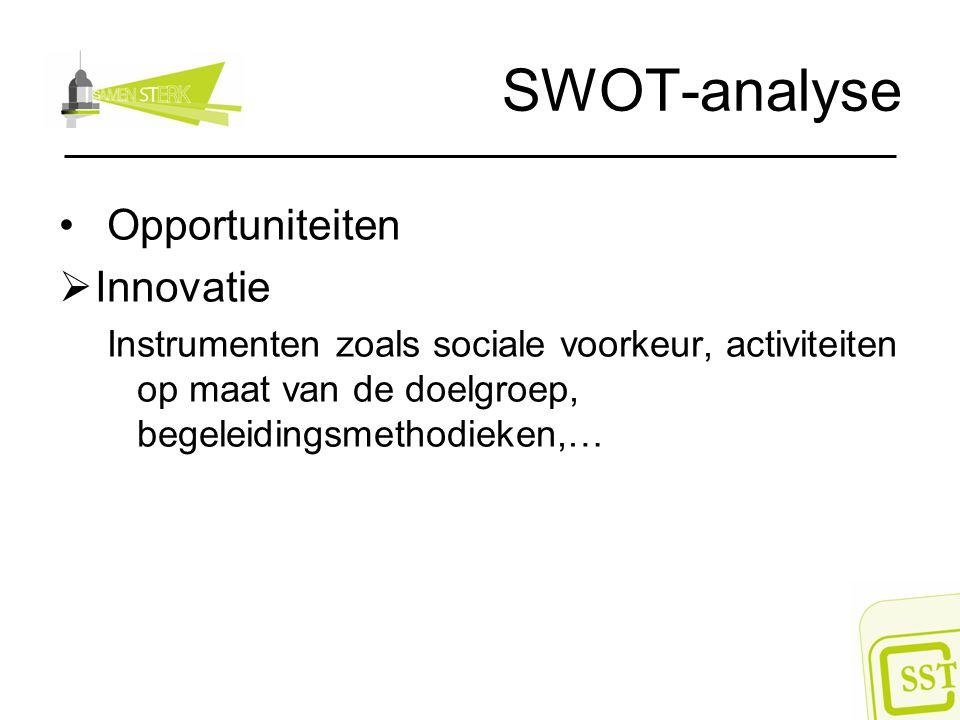SWOT-analyse Opportuniteiten Innovatie