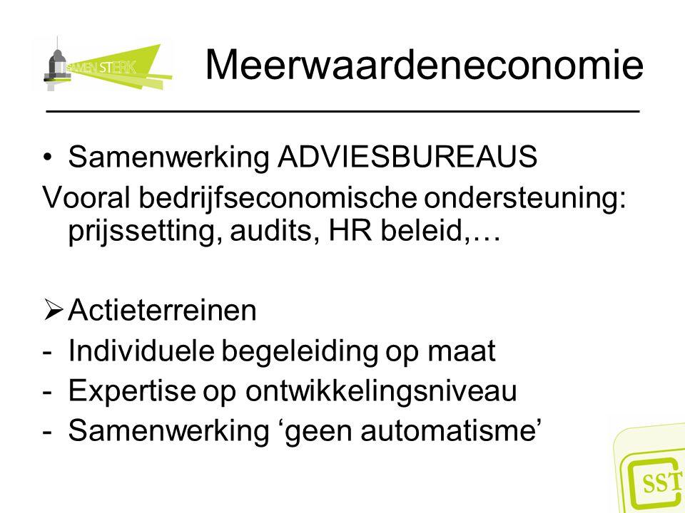 Meerwaardeneconomie Samenwerking ADVIESBUREAUS