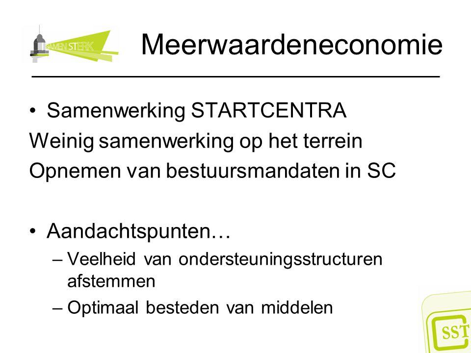 Meerwaardeneconomie Samenwerking STARTCENTRA