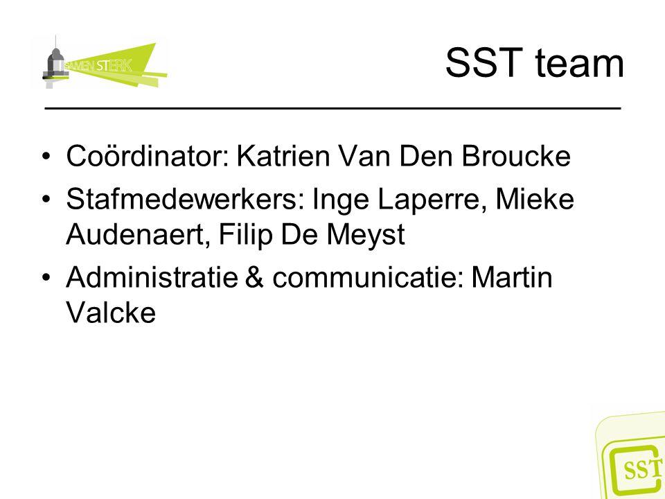 SST team Coördinator: Katrien Van Den Broucke