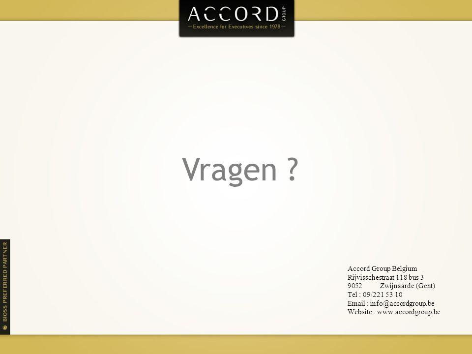 Vragen Accord Group Belgium Rijvisschestraat 118 bus 3
