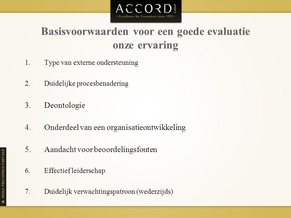 Basisvoorwaarden voor een goede evaluatie onze ervaring