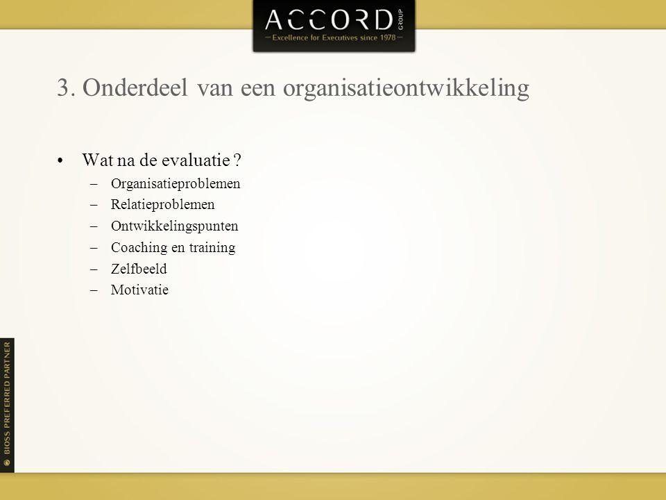 3. Onderdeel van een organisatieontwikkeling