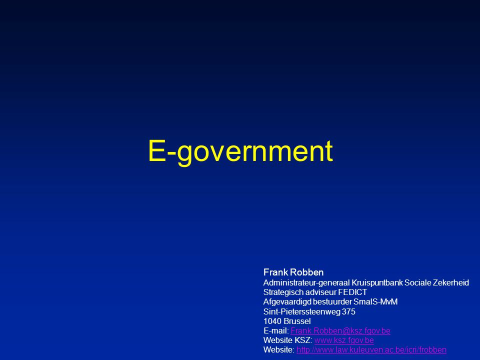E-government Frank Robben