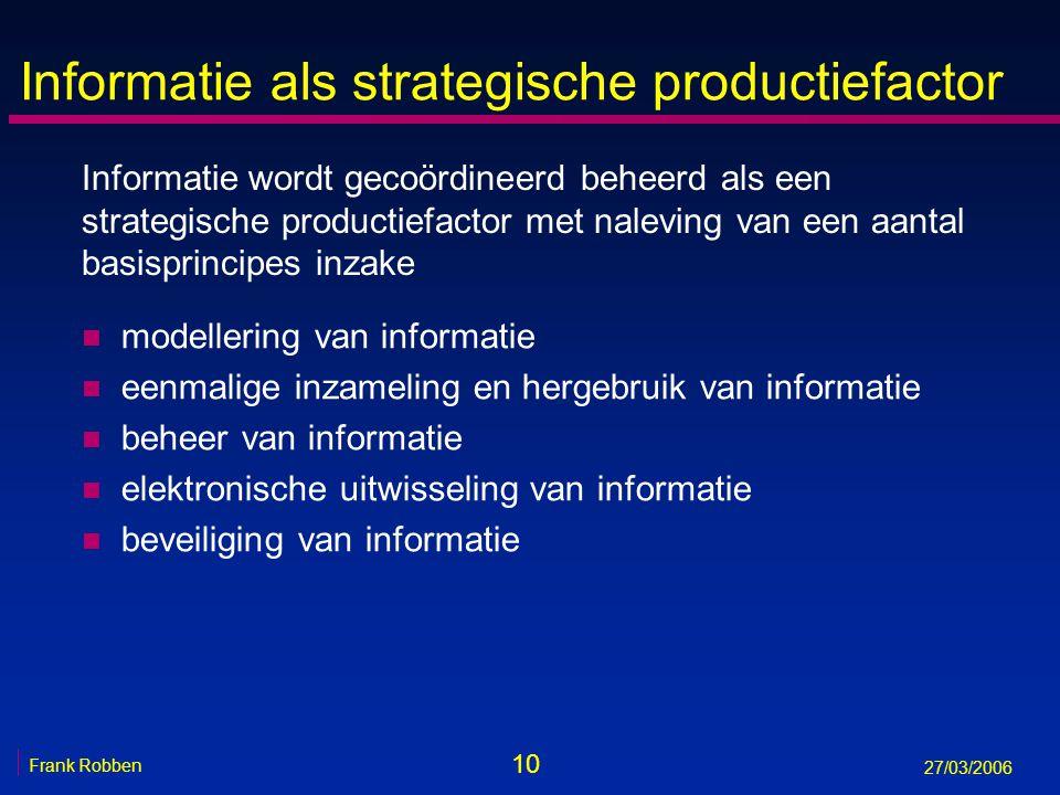 Informatie als strategische productiefactor