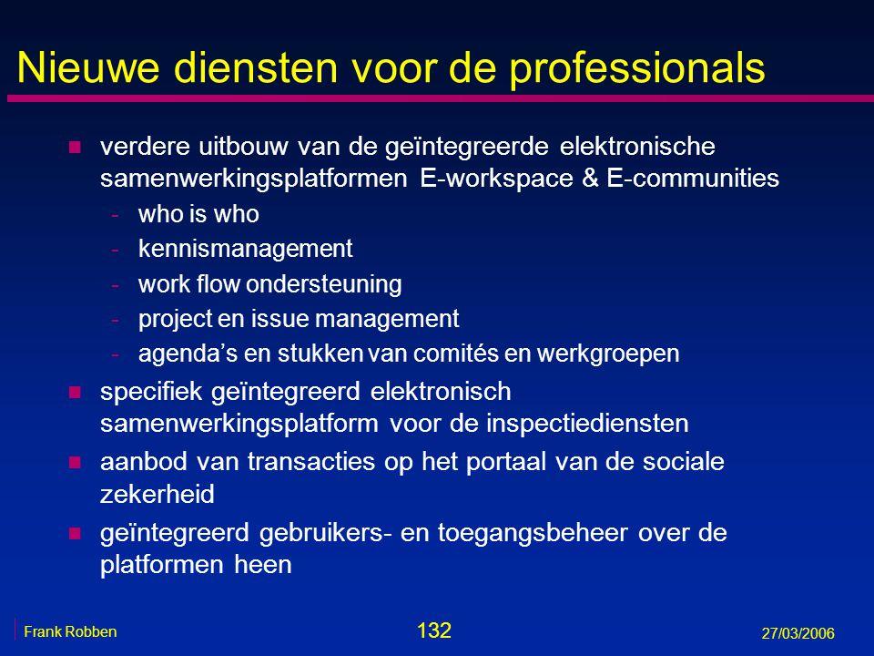 Nieuwe diensten voor de professionals