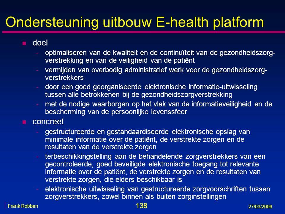 Ondersteuning uitbouw E-health platform