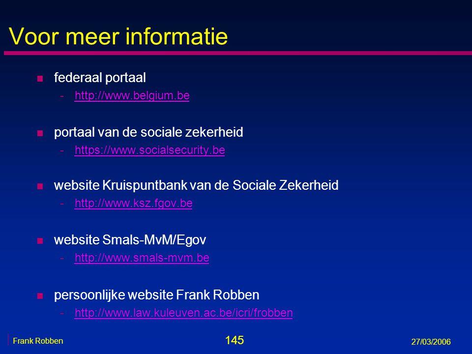 Voor meer informatie federaal portaal portaal van de sociale zekerheid