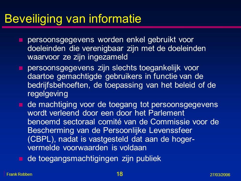 Beveiliging van informatie