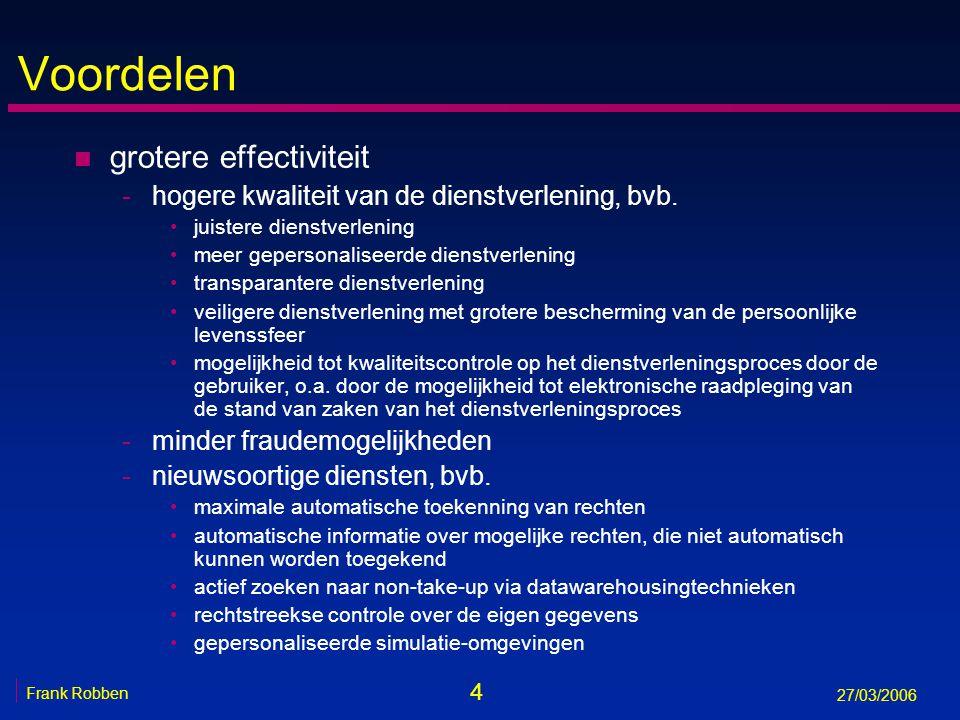 Voordelen grotere effectiviteit
