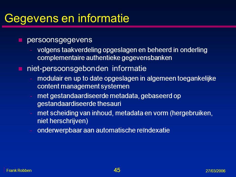 Gegevens en informatie