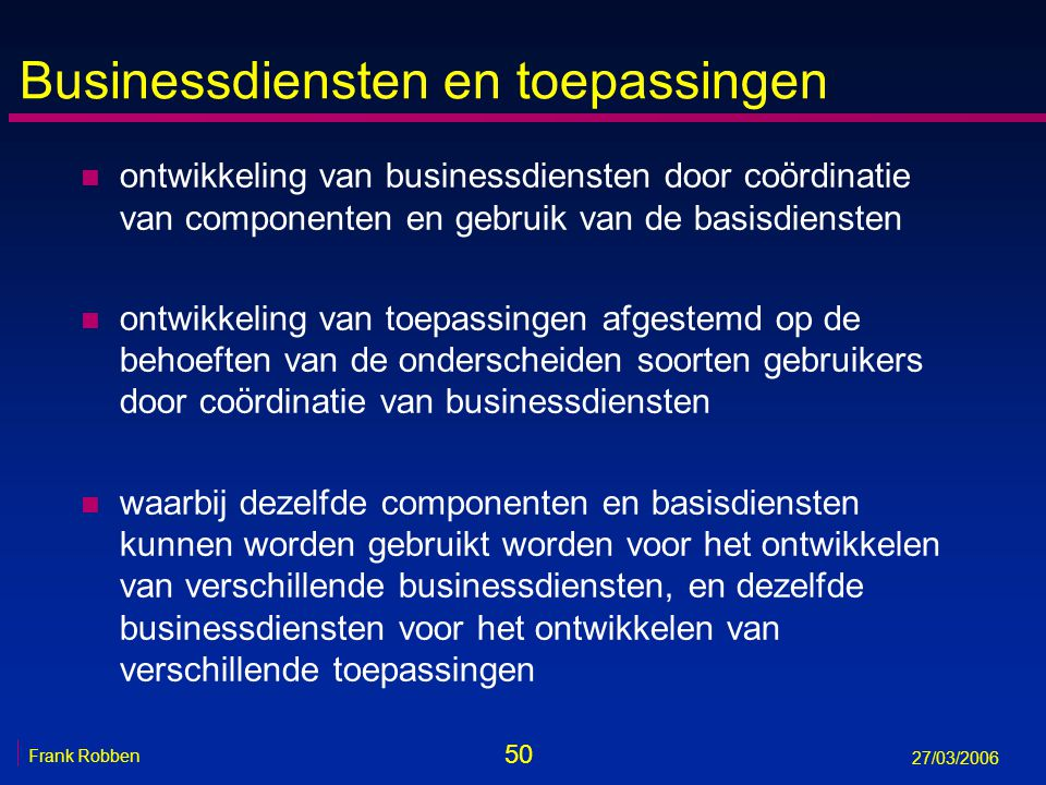 Businessdiensten en toepassingen