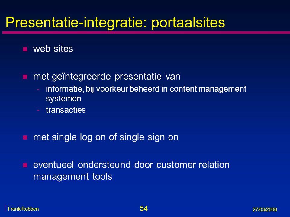 Presentatie-integratie: portaalsites