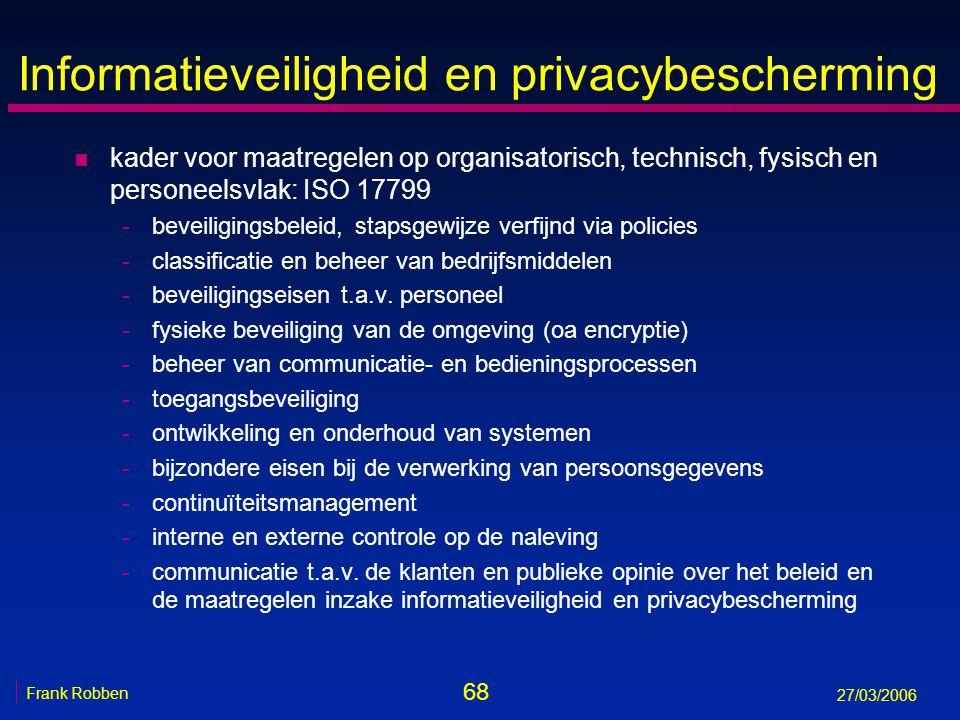 Informatieveiligheid en privacybescherming