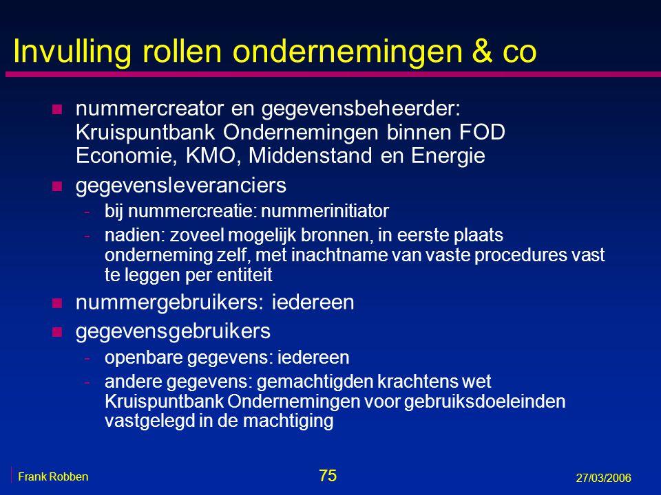 Invulling rollen ondernemingen & co
