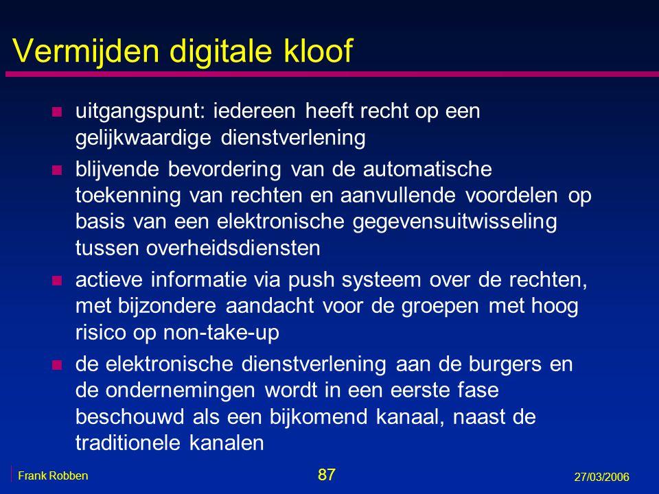 Vermijden digitale kloof
