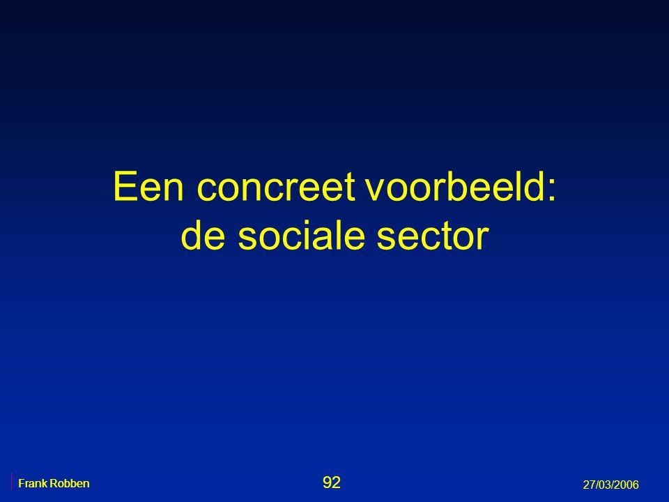 Een concreet voorbeeld: de sociale sector