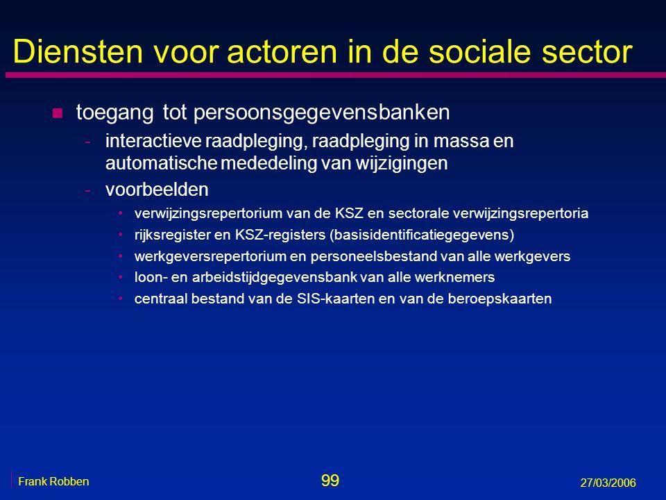 Diensten voor actoren in de sociale sector