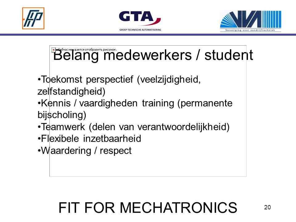 Belang medewerkers / student