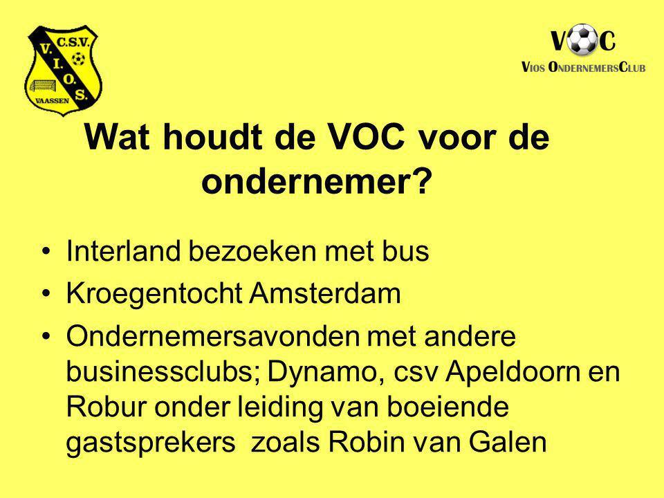 Wat houdt de VOC voor de ondernemer