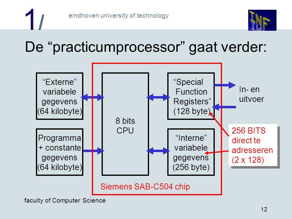De practicumprocessor gaat verder: