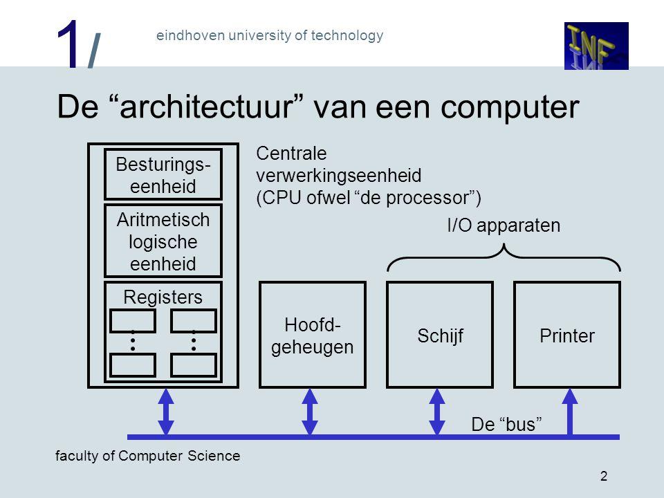 De architectuur van een computer