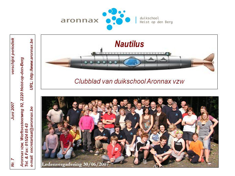 Clubblad van duikschool Aronnax vzw