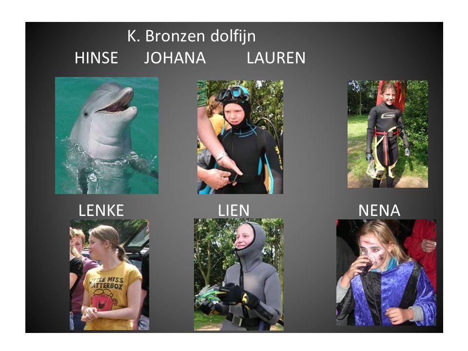 K. Bronzen dolfijn HINSE JOHANA LAUREN LENKE LIEN NENA