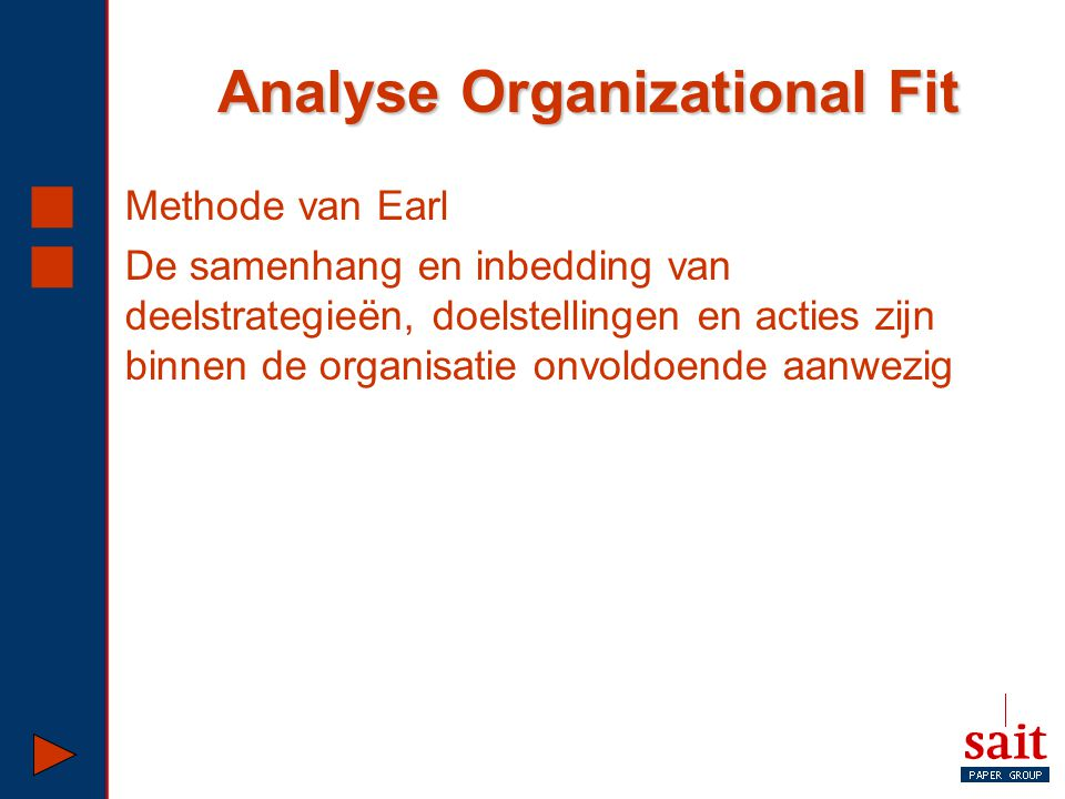 Analyse Organizational Fit