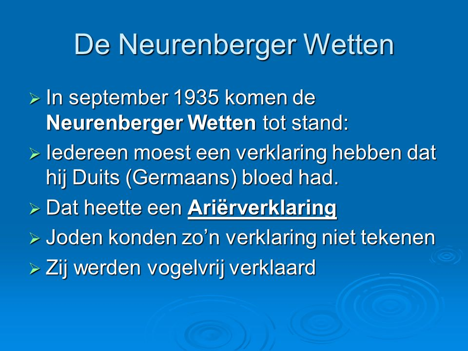De Neurenberger Wetten