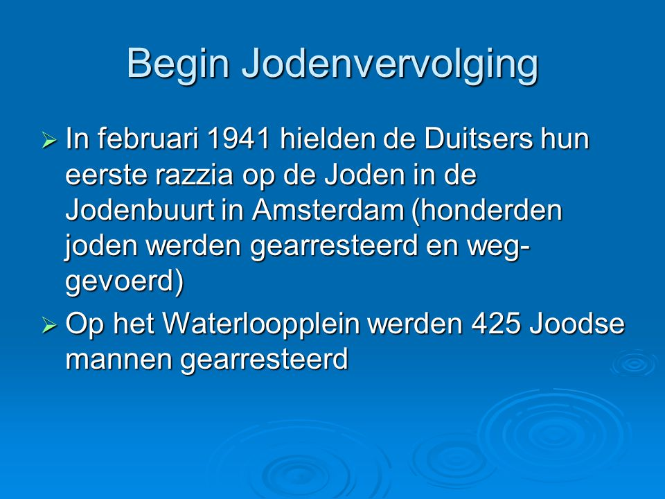 Begin Jodenvervolging
