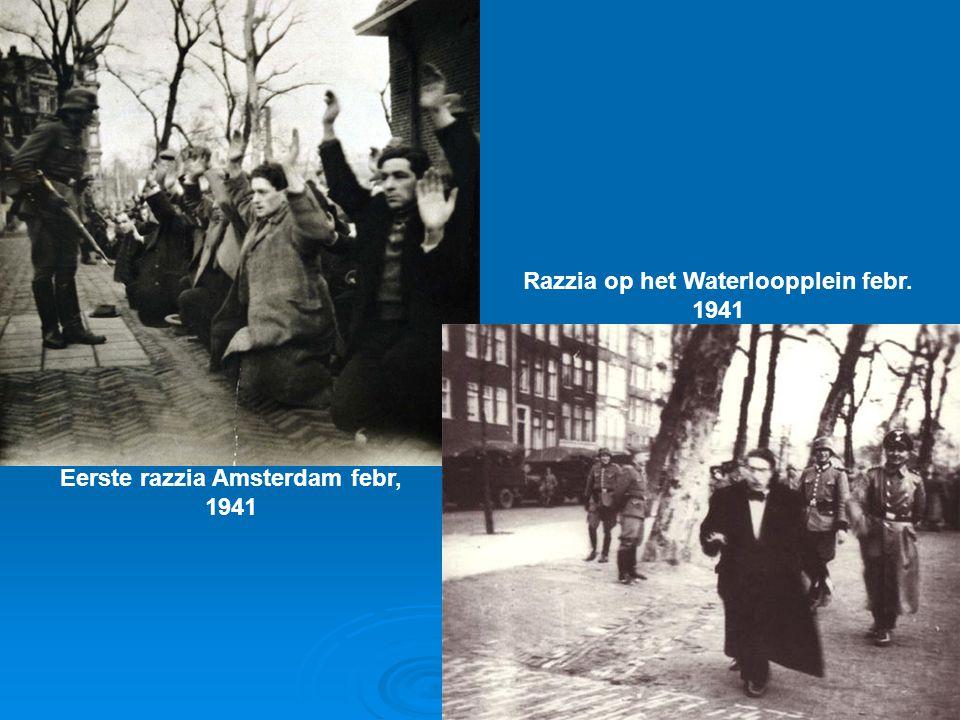 Razzia op het Waterloopplein febr. 1941