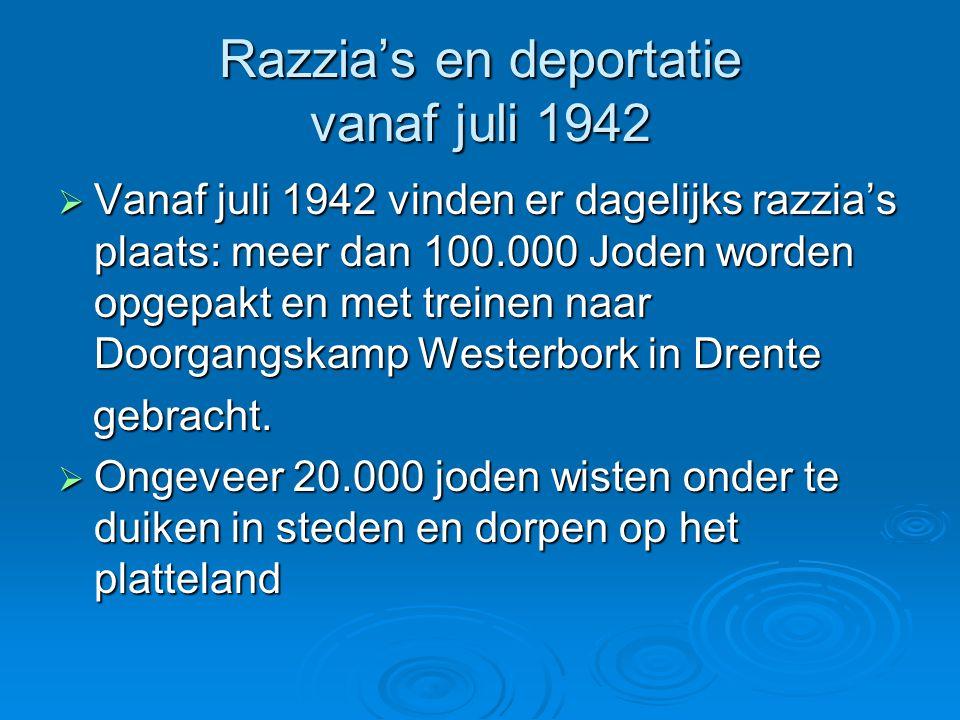 Razzia's en deportatie vanaf juli 1942