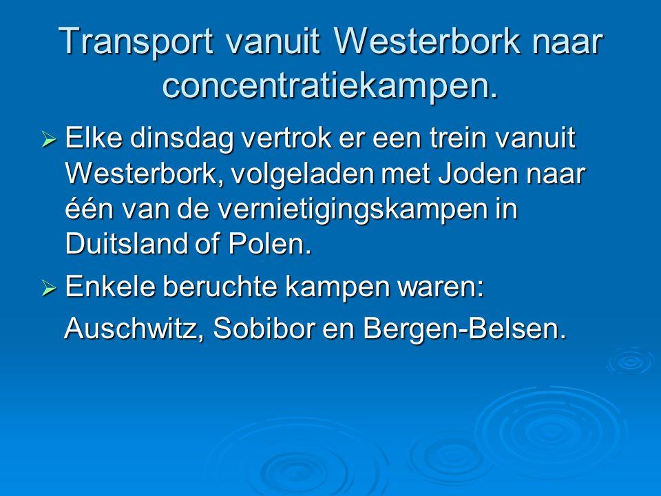 Transport vanuit Westerbork naar concentratiekampen.
