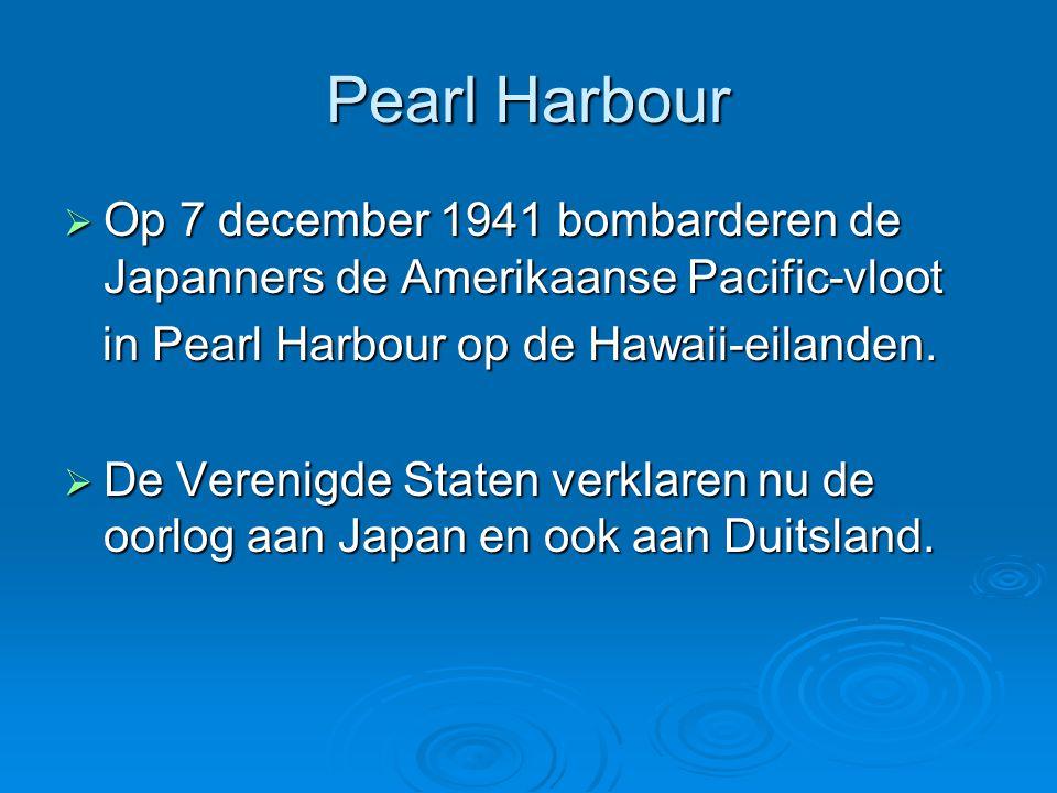 Pearl Harbour Op 7 december 1941 bombarderen de Japanners de Amerikaanse Pacific-vloot. in Pearl Harbour op de Hawaii-eilanden.