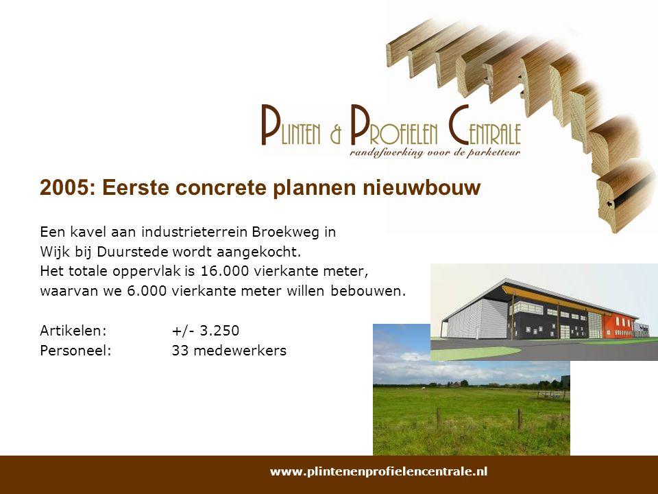 2005: Eerste concrete plannen nieuwbouw